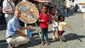 Rotarystand in der Altstadt von Aarau